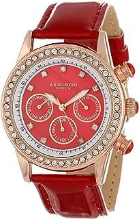 Akribos XXIV Women's Lux Multifunction Swiss Dazzling Strap Watch