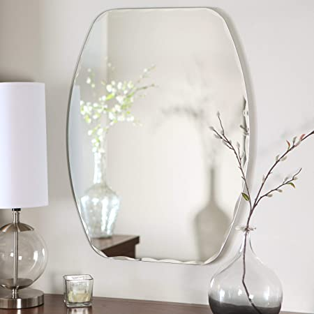 Quality Glass Frameless Mirror (Silver, 18 X 24 Inches)