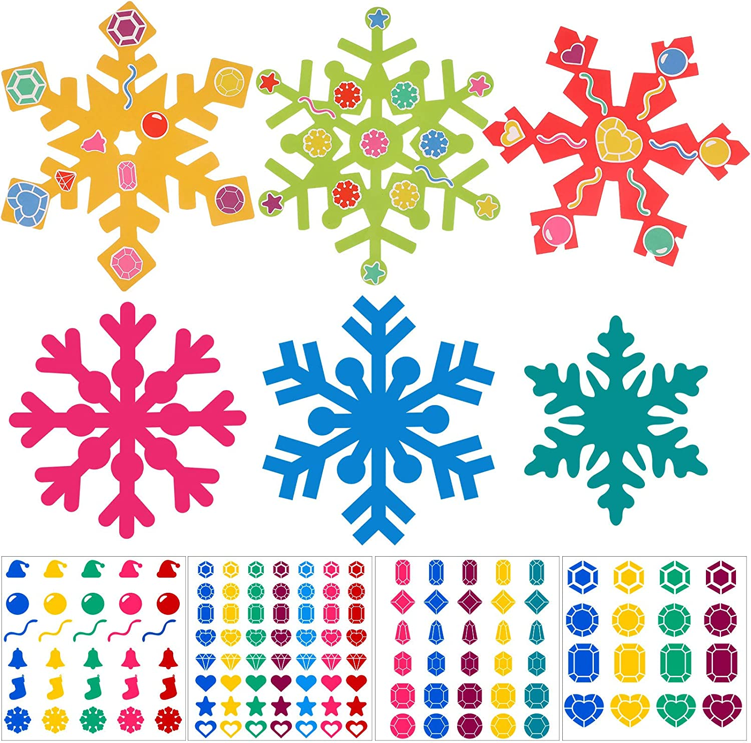 Zonon online shop Fees free 24 Pieces Holiday Snowflake Craft Boy and D Kit for Girls