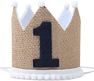 WAOUH 1st Birthday Crown Hat for Baby - First Birthday Party Decor for Baby Show