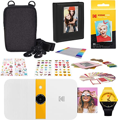 2021 KODAK Smile Instant discount outlet sale Print Digital Camera (White/Yellow) Photography Scrapbook Kit outlet online sale