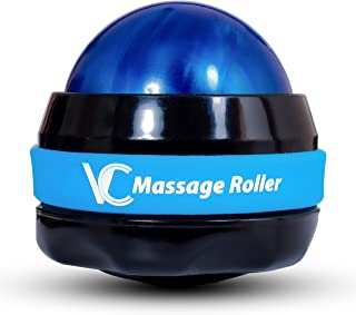 Vital Champs Therapy Massage Roller Ball for Pain Relief and Muscles Sore Manual 360 Degrees for All Body Parts Neck Back ...