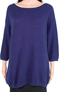 Lark & Ro Women's Sweater Blue US Size Large L Knitted Ribbed Pullover