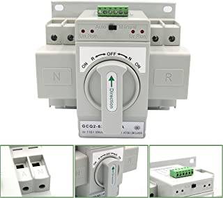 Yaegarden Mini Dual Power Automatic Transfer Switches Self Cast Conversion 50/60HZ AC-33iB AC 400V 63A 2P
