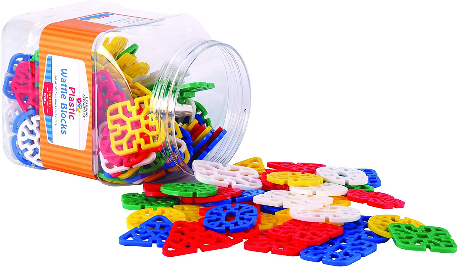 Learning Advantage 7021 Waffle Blocks (Pack of 145)