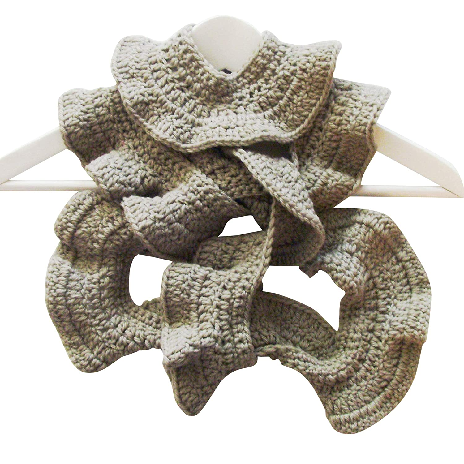 Handmade Soft Green Gray Lacy Scarf Boa ME2Designs Courier shipping free Eco-Friendl Quality inspection