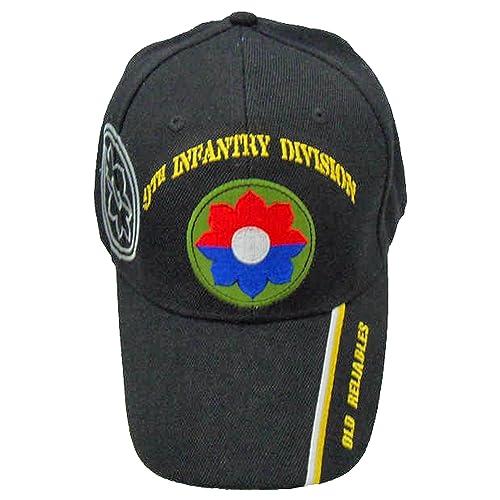 Men Women Adjustable Denim Fabric Baseball Cap 9th Infantry Division Trucker Cap
