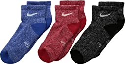 Nike Kids - Performance Cushioned Quarter Training Socks 3-Pair Pack (Little Kid/Big Kid)