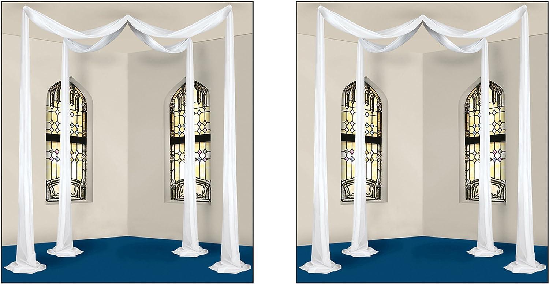 Beistle Elite Collection Celebration 商い Canopy Piece White 買物 2