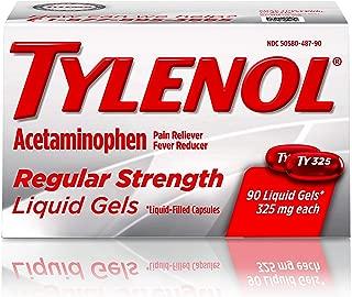 Tylenol Regular Strength Liquid Gels with 325 mg Acetaminophen, Pain Reliever & Fever Reducer, 90 ct