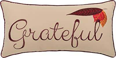 C&F Home Grateful Embroidered Pillow 12 x 24 Brown