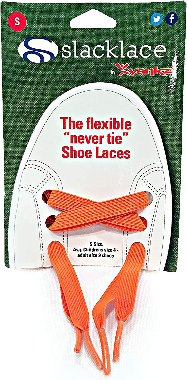 SlackLace - Max 75% OFF Flat Elastic Shoe Lock No Re-Tie Orange Ranking TOP7 Laces