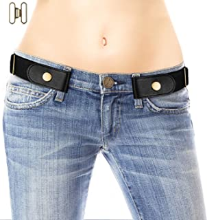 No Buckle Belt for Women/Men - Stretchy Elastic Waist Belts for Jeans Pants