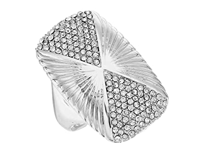 Vince Camuto Large Rectangle Ring (Rhodium/Crystal) Ring