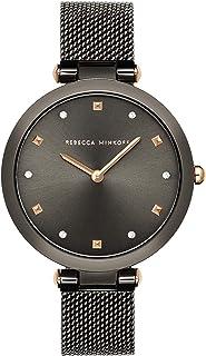 Rebecca Minkoff Women's Quartz Watch with Stainless Steel Strap, Grey, 13 (Model: 2200302)