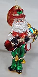 Radko One Man Band Santa Musician Glass Christmas Ornament