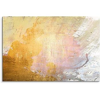 F Gelb // Grau 28x36inch handbemalt 70x90cm With the Frame Orlco Art /Ölgem/älde auf Leinwand abstrakt