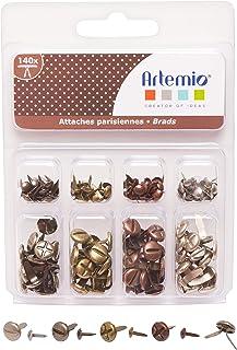 Artemio Attaches parisiennes vis métal Vieilli 4mm et 8mm