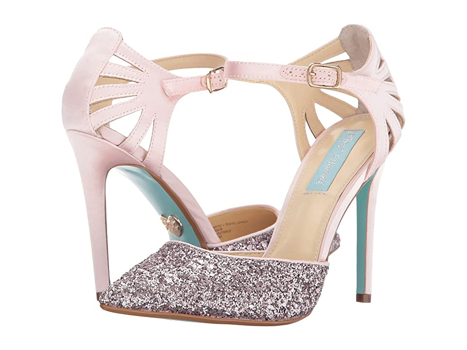 Blue by Betsey Johnson Avery (Blush Satin) High Heels