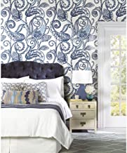 RoomMates Blue Paisley Power Peel and Stick Wallpaper