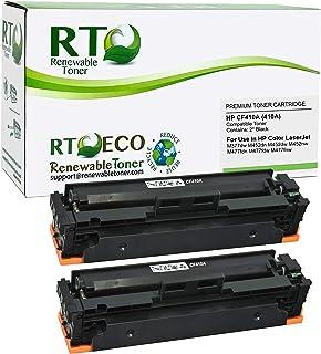 Renewable Toner Compatible Toner Cartridge Replacement for HP 410A CF410A Laserjet M477 M452 M377 (Black, 2-Pack)