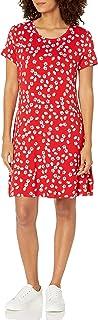 Amazon Essentials Womens Short-Sleeve Scoopneck Swing Dress