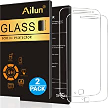 Ailun Screen Protector for Moto G4 Plus 2Pack 9H Hardness Ultra Clear Anti Scratch Case Friendly Tempered Glass for Moto G4 Plus Not for Moto G4 Moto G4 Play Moto Z Play LG G4 Siania Retail Package