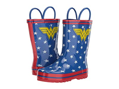 Favorite Characters Wonder Womantm Rain Boot (Toddler/Little Kid) (Blue) Girls Shoes