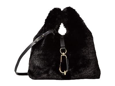 ZAC Zac Posen Belay Shopper Faux Fur (Black) Handbags