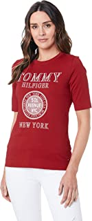 Tommy Hilfiger Darcy C-nk Womens Short Sleeve T-Shirt X Small True Red