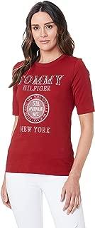 TOMMY HILFIGER Women's Organic Cotton New York Logo T-Shirt
