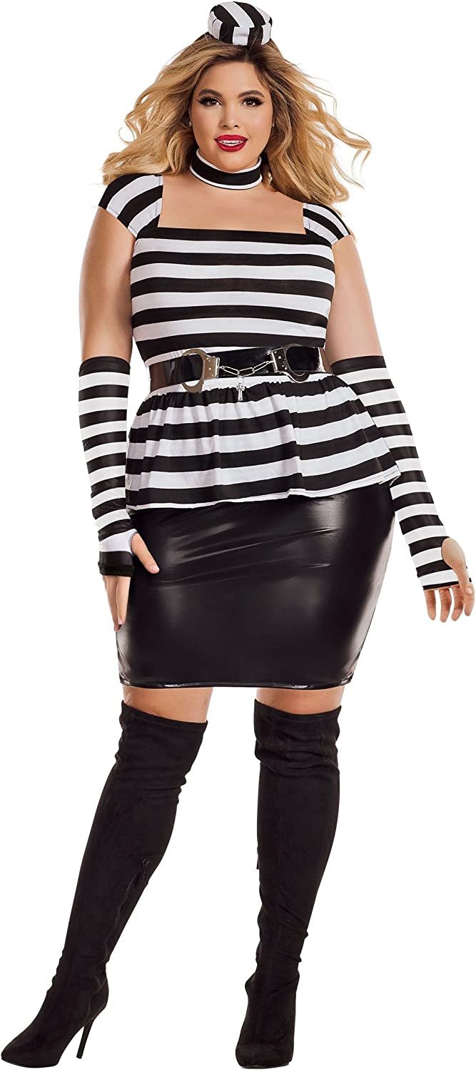 Starline Women's Plus Size Jailbird Fancy dress costume 2X