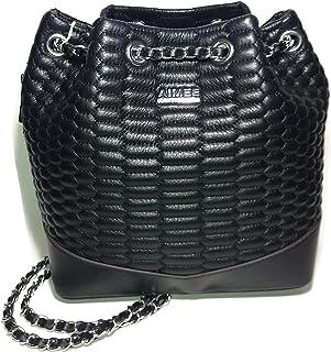 Aimee Kestenberg Black Bondi Quilted Python Backpack Handbag AK481715