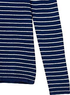 Lark & Ro Jersey de Cuello Redondo. Suéter para Mujer