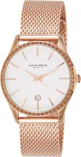 Akribos XXIV Casual Watch Analog Display for Women AK967RG