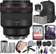 Canon RF 85mm f/1.2L USM Lens w/Advanced Photo and Travel Bundle