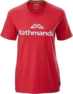 Kathmandu Logo Short Sleeve Crew Womens Tee Regular Fit Sustainable Cotton Women's