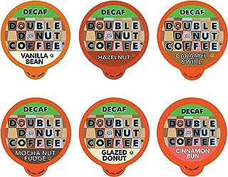 Decaf Flavored Coffee Variety Pack - 6 Traditional Flavors (Caramel Swirl, Hazelnut, Glazed Donut, Mocha Nut Fudge, Vanill...