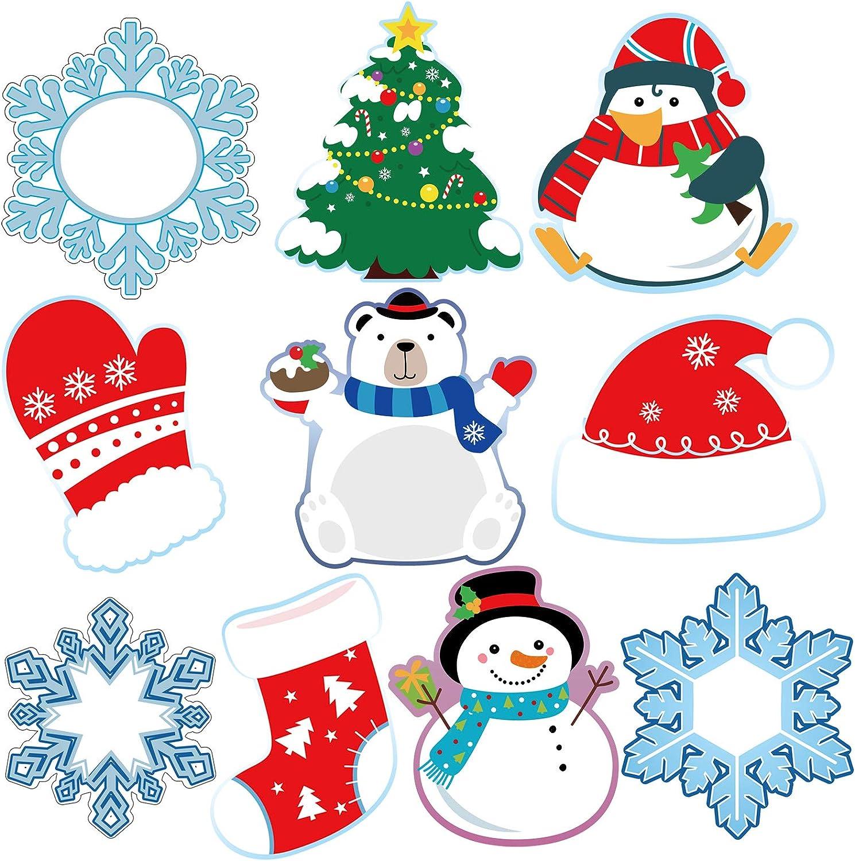 50 Easy-to-use Pieces Winter Cutouts Snowflake San Jose Mall Classroom Snowman Dec Penguin