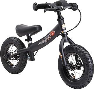 Bikestar Bicicleta de Equilibrio para niños de 2 años con neumáticos de Aire y Frenos | 10 Pulgadas Sport Edition | Negro