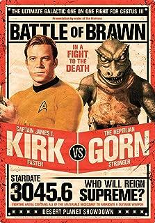 Aquarius Star Trek Kirk Vs Gorn Tin Sign