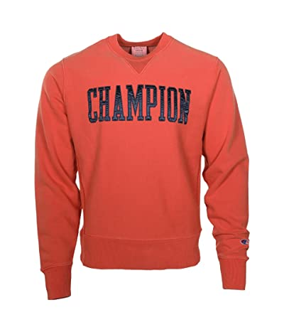 Champion Vintage Wash Reverse Weave(r) Crew w/ V-Notch (Burnt Orange) Men