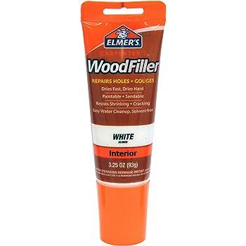 Elmer's E855 Carpenter's Wood Filler, 3.25-Ounce Tube, White