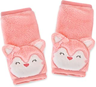 Carter's Plush Strap Covers, Animal Fox, Pink/Salmon