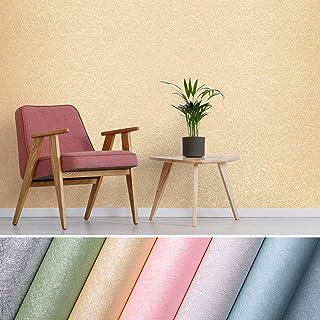 KINLO Papel pintado con Imagen de Seda Cruda Vinilo Adhesivo Impermeable de PVC para Decorar Pared Muebles Aparador Habita...
