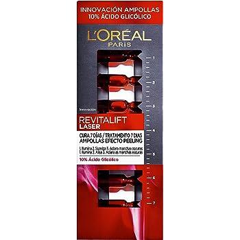 L'Oréal Revitalift Laser Ampollas Efecto Peeling Con Ácido Glicólico Negro - 7 Unidades 30 g