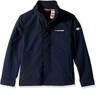 TOMMY HILFIGER Boys 7185352 Adaptive Yacht Jacket with Magnetic Buttons Jacket - Blue