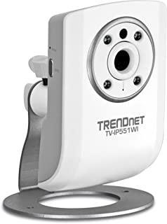 TRENDnet Wireless N Network Surveillance Camera with 1-Way Audio and Night Vision, TV-IP551WI (White)