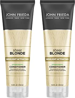 John Frieda Sheer Blonde Highlight Activating Brightening Conditioner for Lighter Blondes, 8.45 Ounce