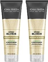 John Frieda Sheer Blonde Highlight Activating Brightening Conditioner for Lighter Blondes, 8.45 Ounce (pack of 2)